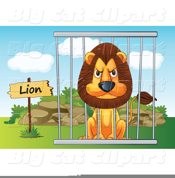 Animals In Cages Clipart.
