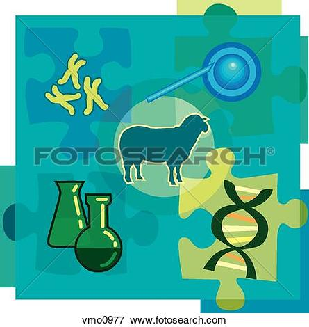 Stock Illustration of Montage illustration about genetic.
