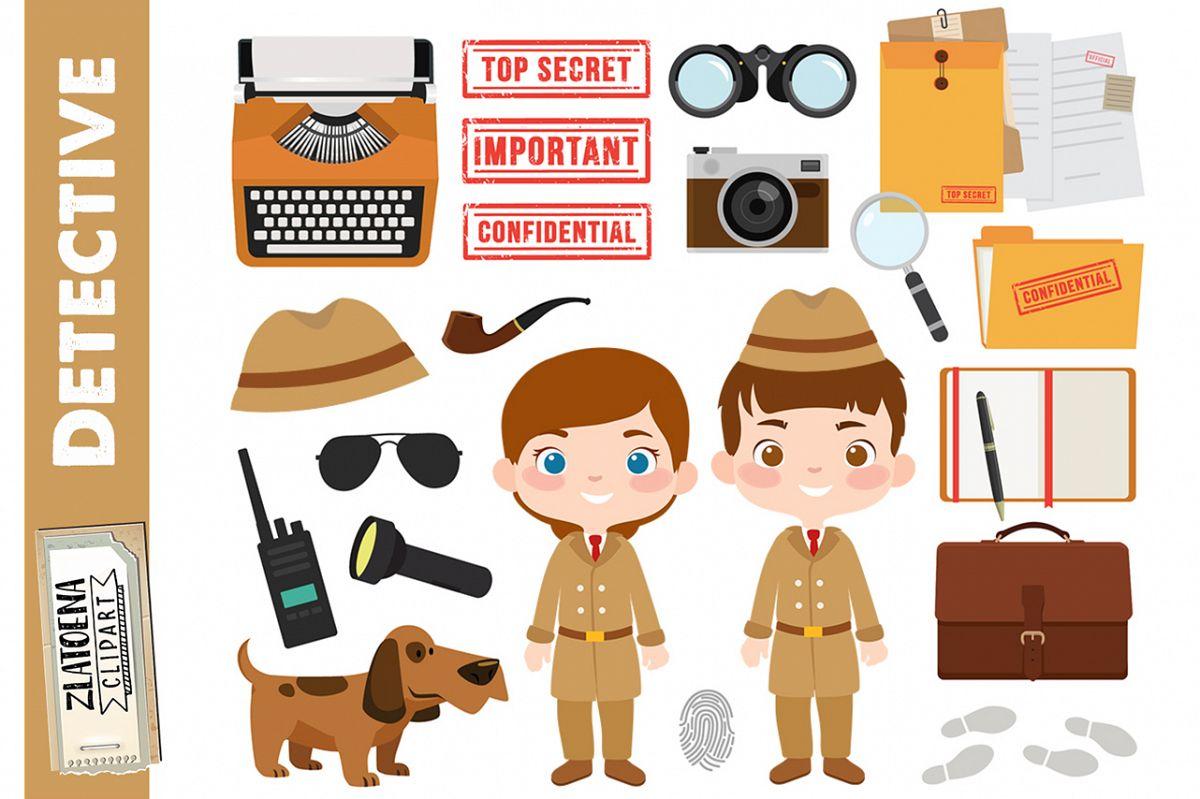 Detective clipart Private Investigator graphics Spy clipart.