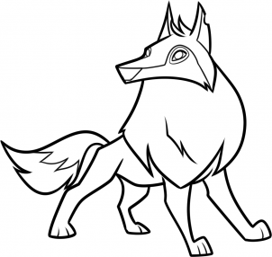 how to draw an animal jam arctic wolf step 9.