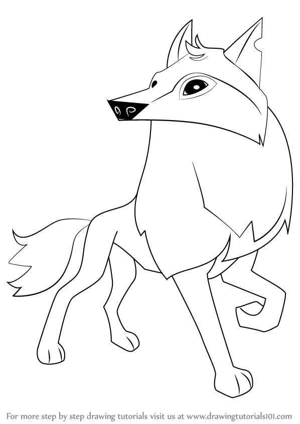 Learn How to Draw Arctic Wolf from Animal Jam (Animal Jam.