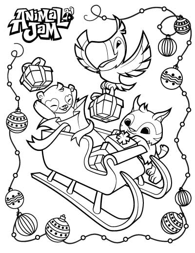 Animal Jam Coloring Pages.
