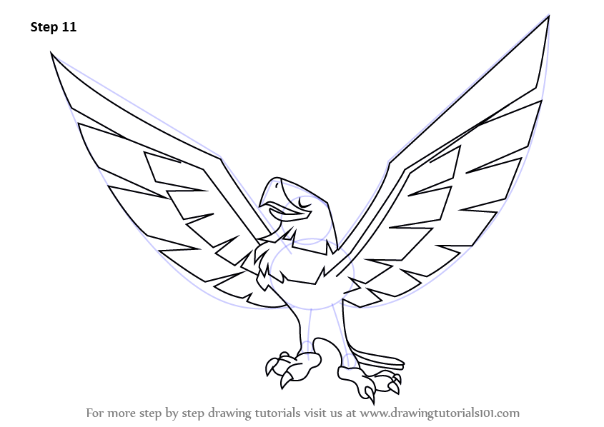 Easy eagle drawing