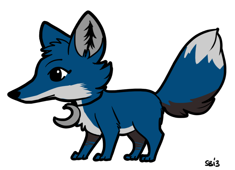 Blue Animal Jam Fox by Badjerma on Clipart library.