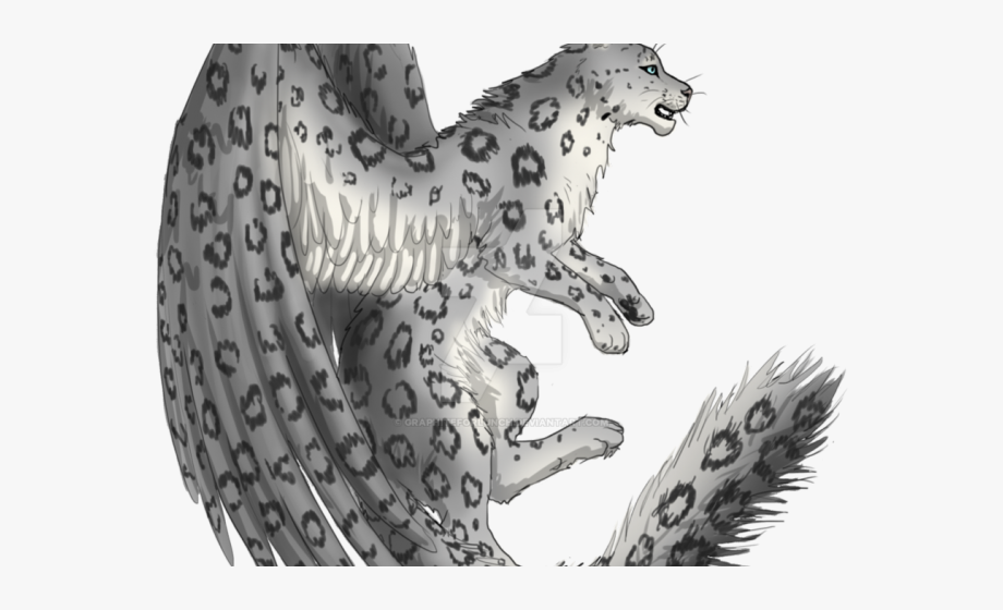 Snow Leopard Clipart Black And White.