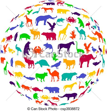 Animal kingdom Clipart Vector Graphics. 302 Animal kingdom EPS.