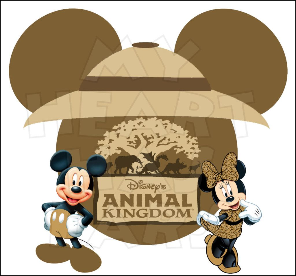 Mickey and Minnie Mouse Animal Kingdom INSTANT DOWNLOAD.