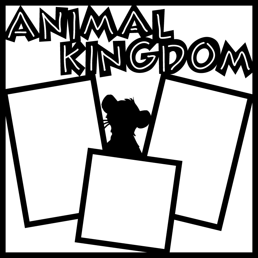 Animal Kingdom Scrapbook Overlay.