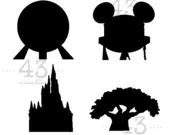Disney Animal Kingdom Silhouette.