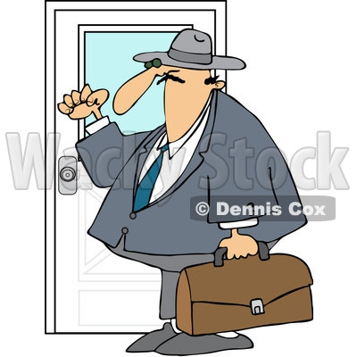 Girl Knocking On Door Clipart#1897888.