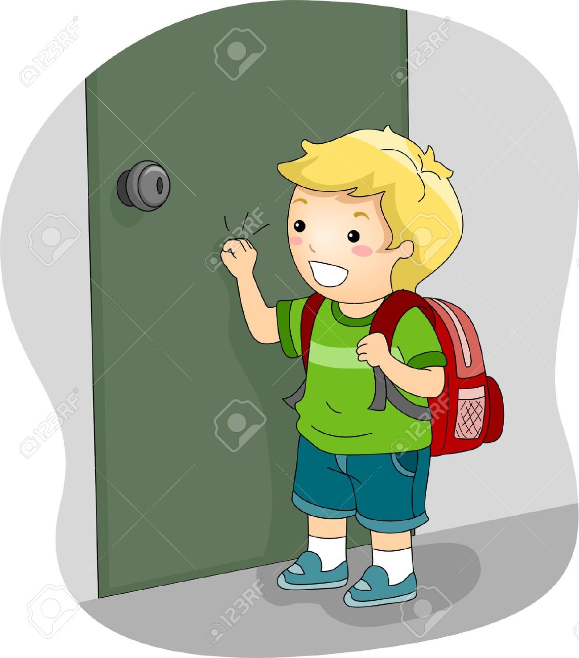 Animal Knocking On Door Clipart.