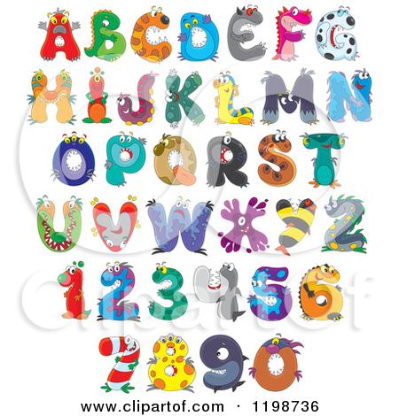 Animal Letters Clipart.