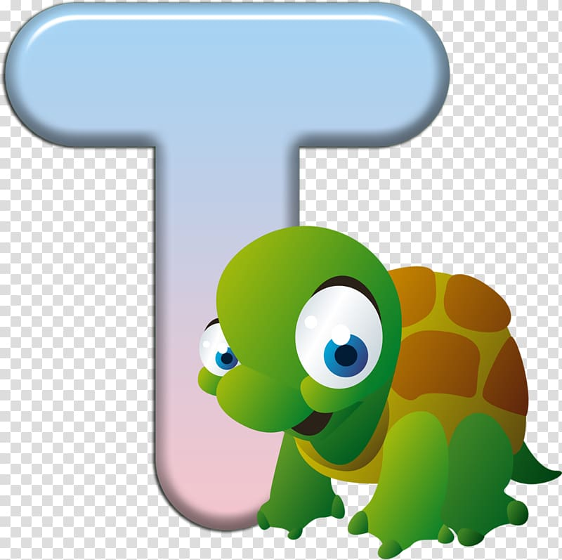 Turtle Letter Child, alfabeto animal zoo letters transparent.