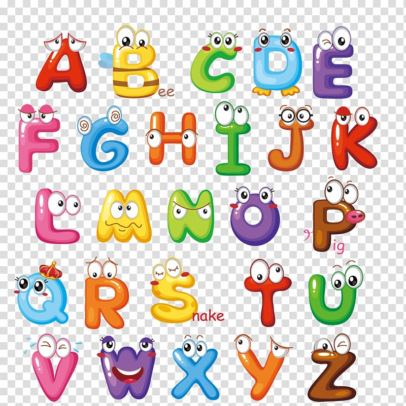 Letter English alphabet, Cute letters, alphabet with animals.