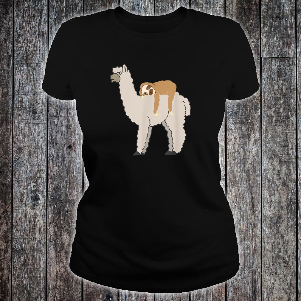 Cute & Sloth Sleeping on Llama Animal Friends Shirt.