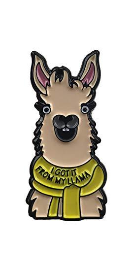 Amazon.com: Llama Enamel Pin I Got It From My Llama: Clothing.