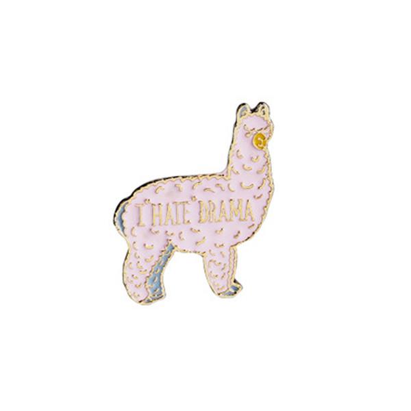 2019 Llama Gift Lovely Animal Brooch Lama Brooch Llama Lover Gift I Hate  Drama Brooch Alpaca Jewelry Funny Pin Hola Amigos Animal Lover Gift From.