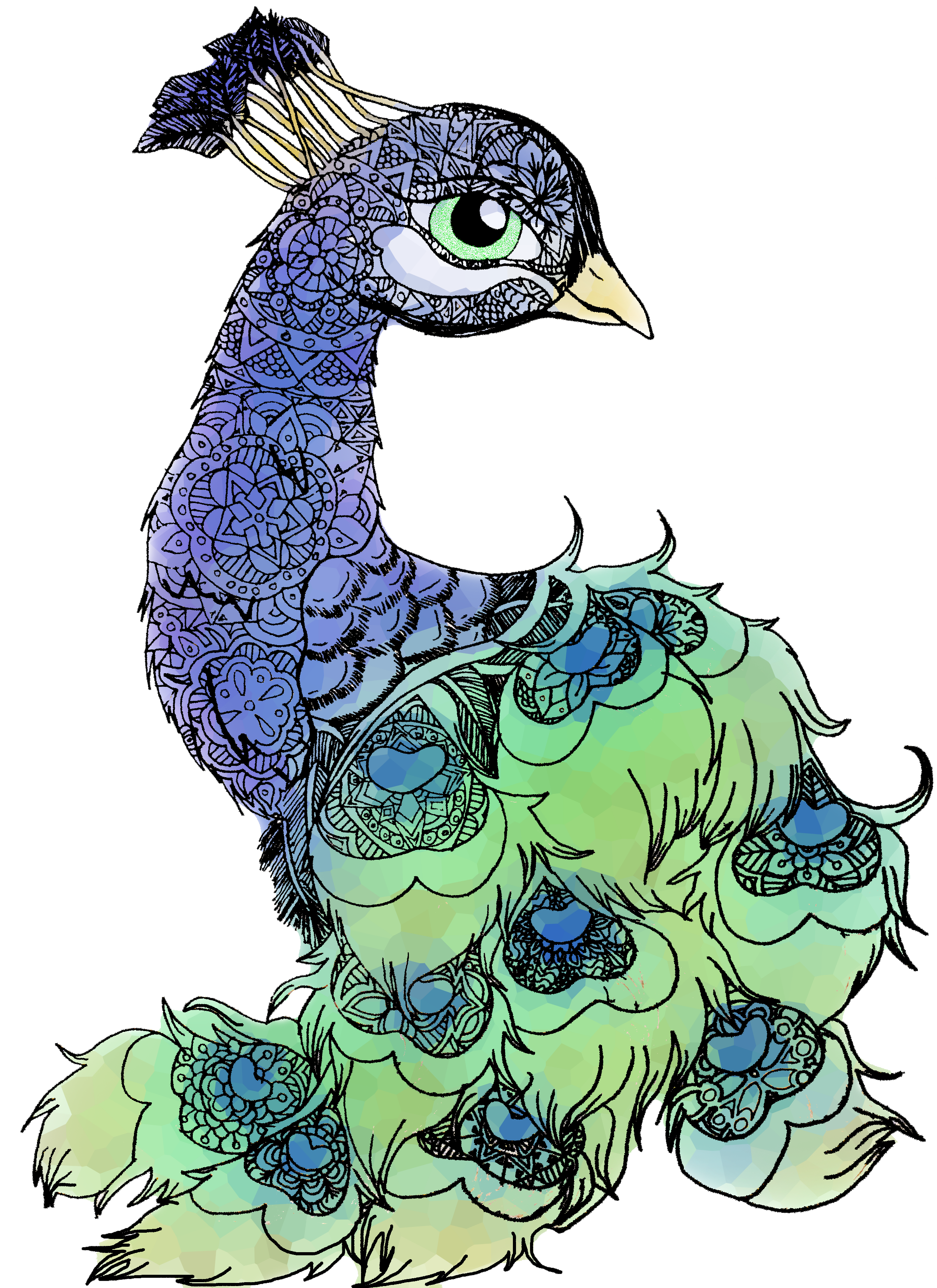 Peacala,peacock,bird,feathers,animal,mandala,blue,green.