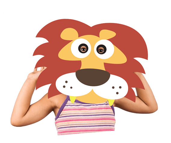 Printable Paper Animal Masks For Kids.