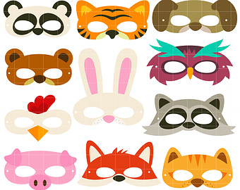 Animal Mask Clipart.