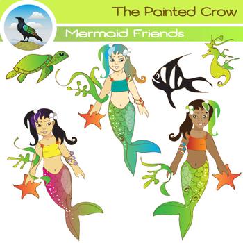 Mermaid Clipart.