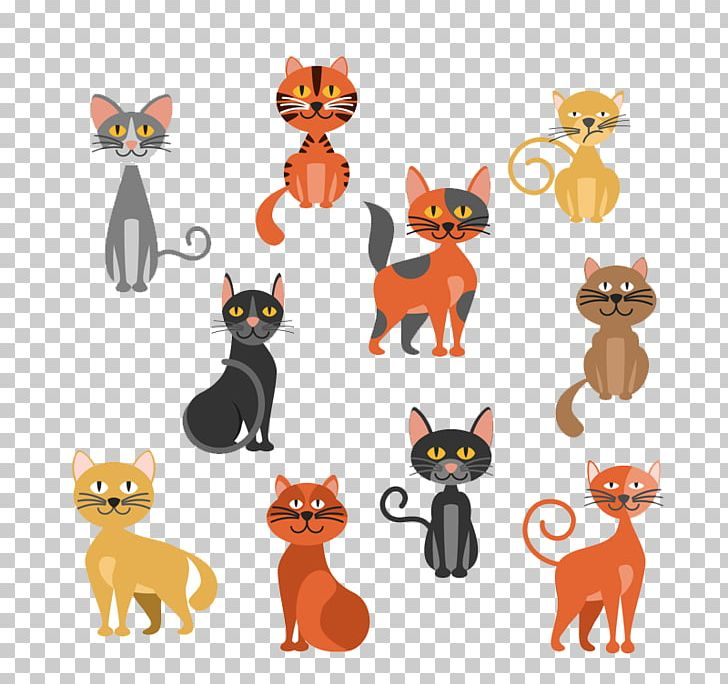 10 Models Cute Cat Design PNG, Clipart, Animal, Animation.