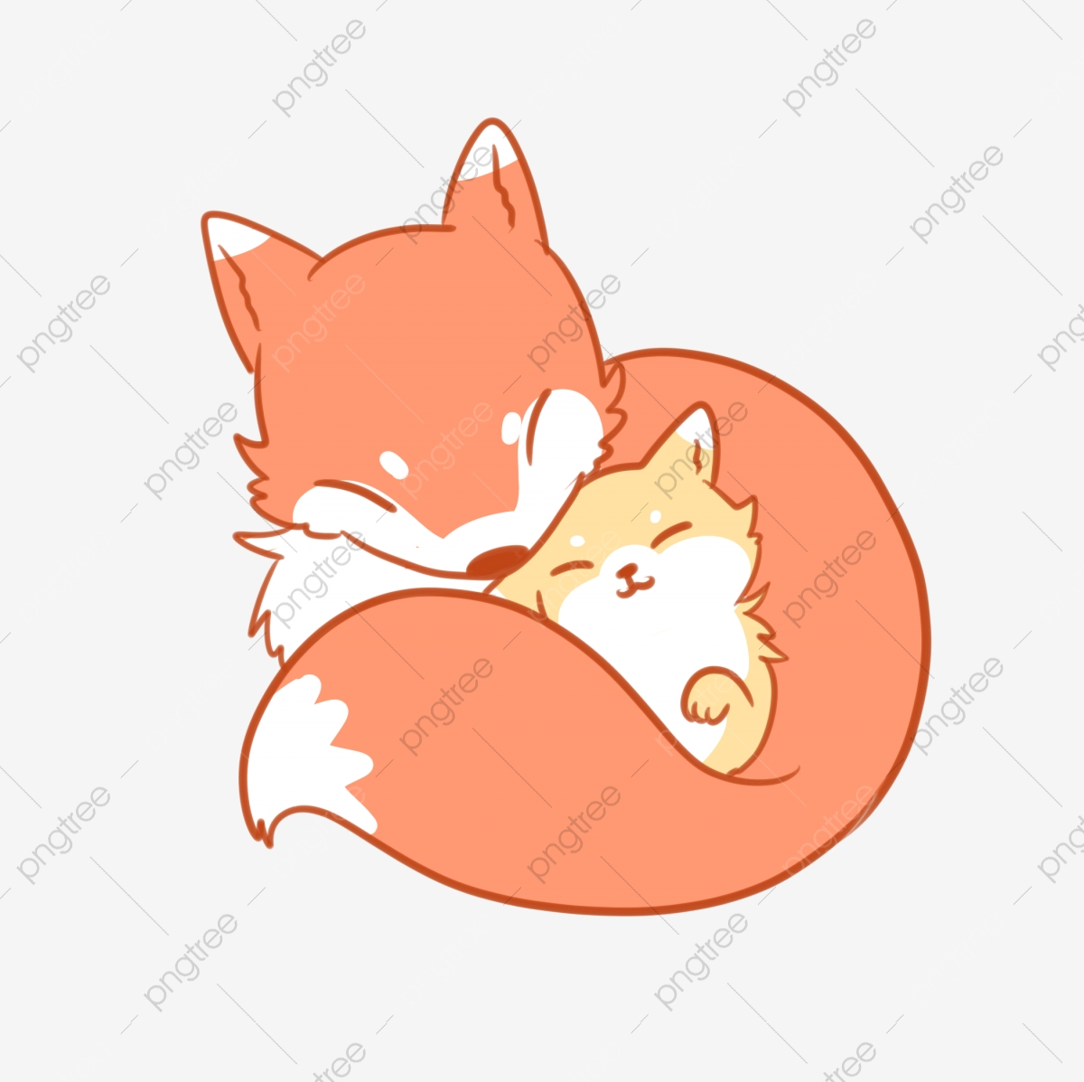 Animal Mother And Child Combination Fox, Fox, Mother S Day.