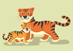 Animal Mom And Baby Vector Illustration.