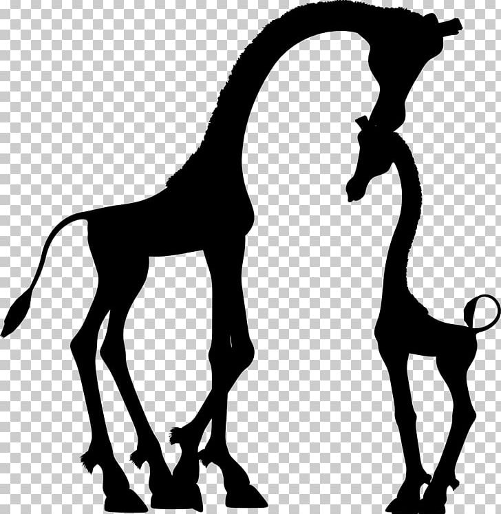 Giraffe Child Silhouette Mother PNG, Clipart, Animals, Baby.