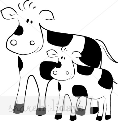 Clipart Black And White Mothers Day Animals.