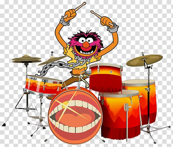 Animal Kermit the Frog Drummer The Muppets, drum transparent.