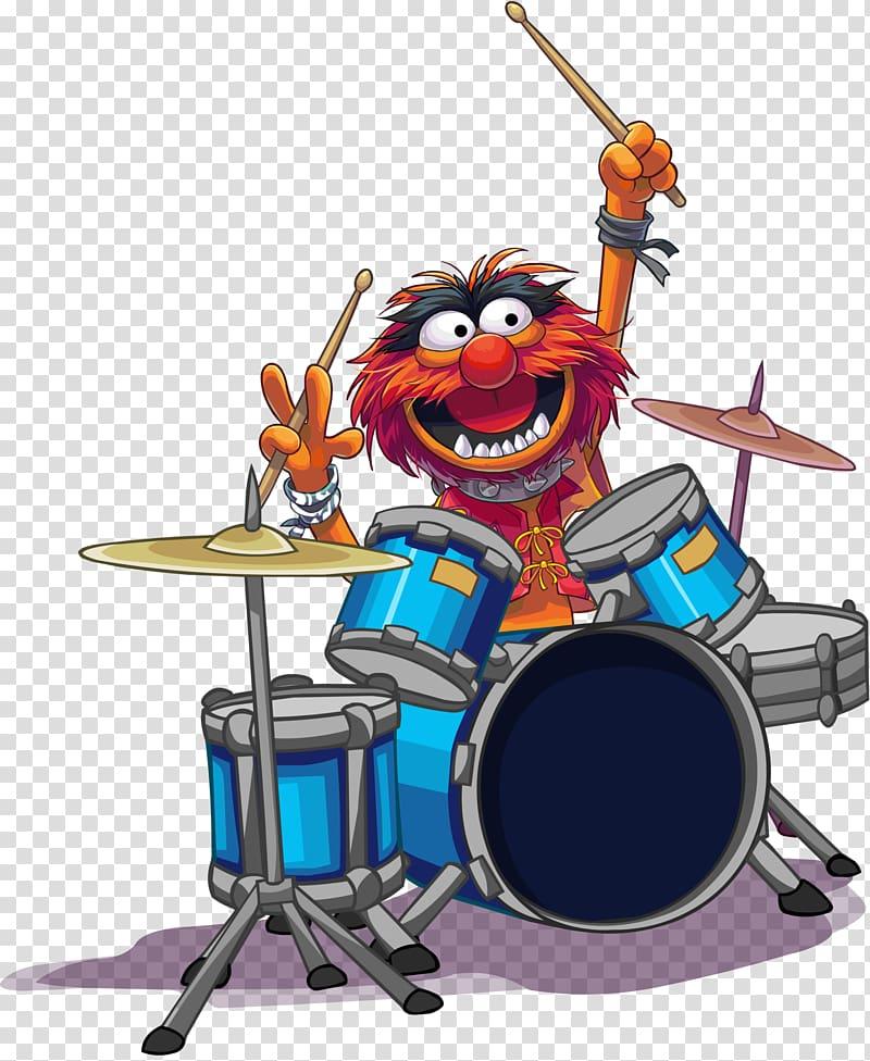 Animal Drummer Drums The Muppets, drummer transparent.