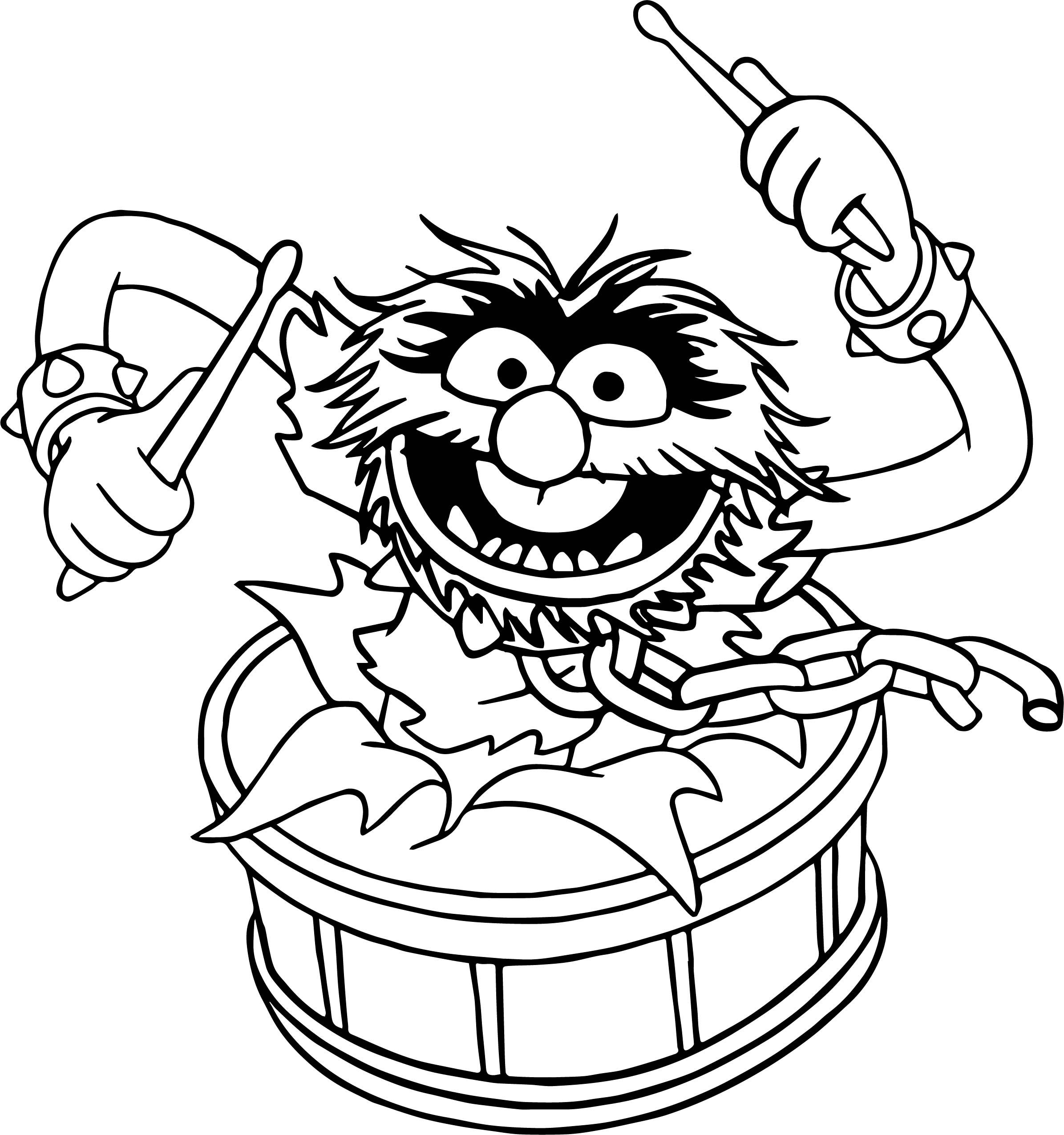 The Muppets Animal Song Coloring Pages.