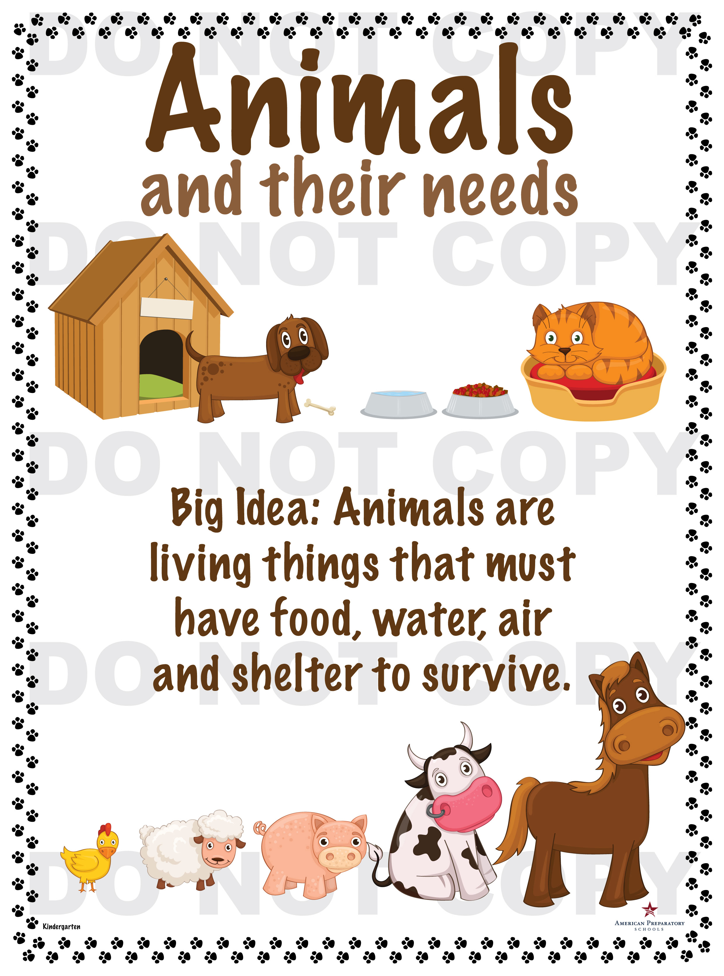 Animals and their needs.