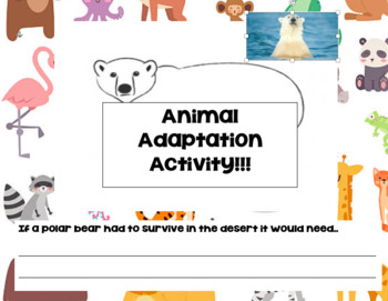 Animal Adaptations.