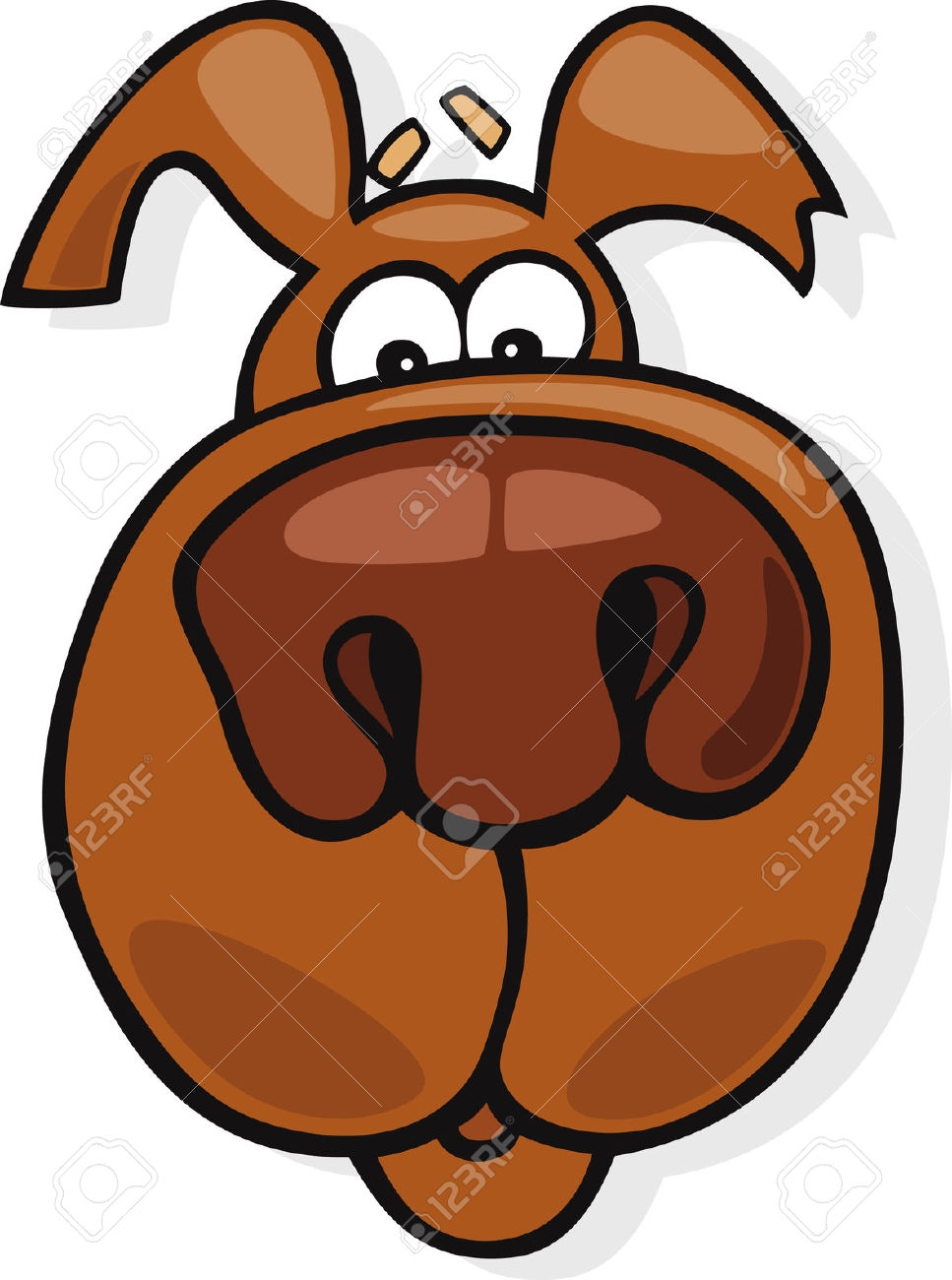 Brown Nose Clip Art Free.