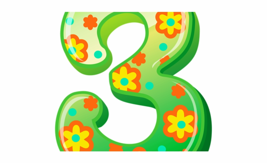 Five Clipart Cute Animal Number.