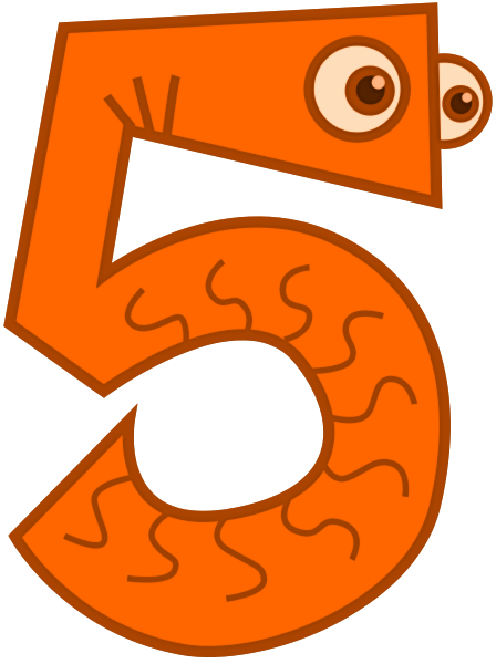 Animal Number Clipart.