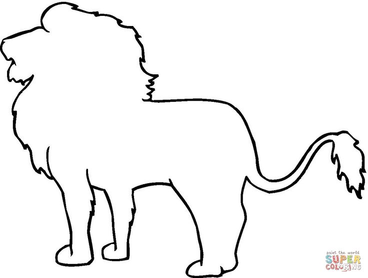 Animal Outline Coloring Pages.