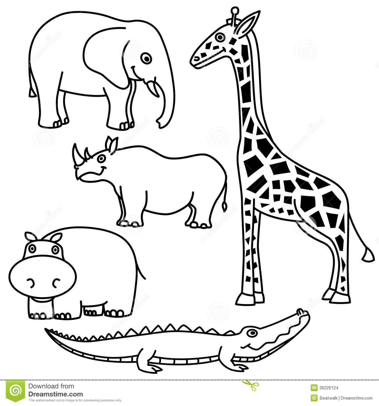 Animal outlines clipart 5 » Clipart Station.