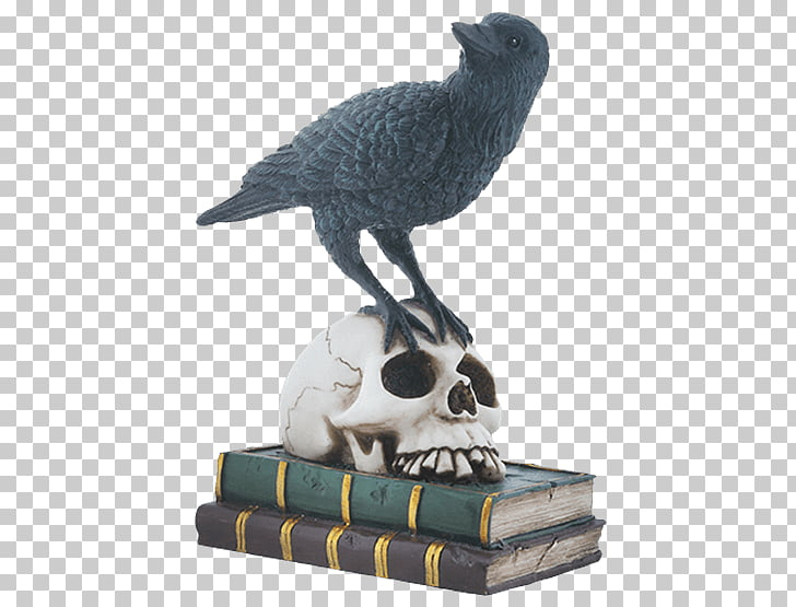 Sculpture Figurine Eagles Club Animal, perched raven overlay.