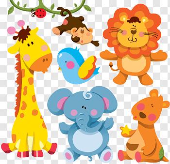 Cartoon Animal cutout PNG & clipart images.