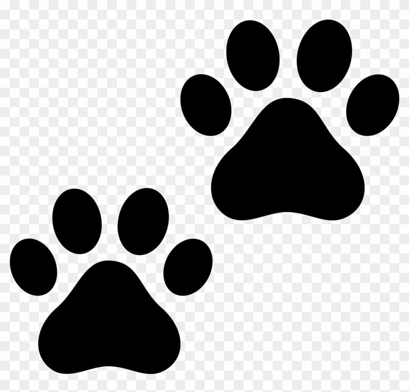 Dog Paw Prints Cat Paw Print Clipart.