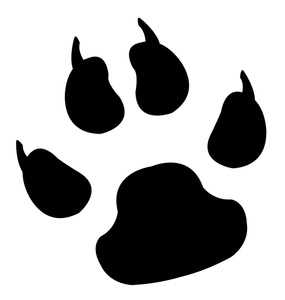 Dog Paw Print Clip Art Free Download.