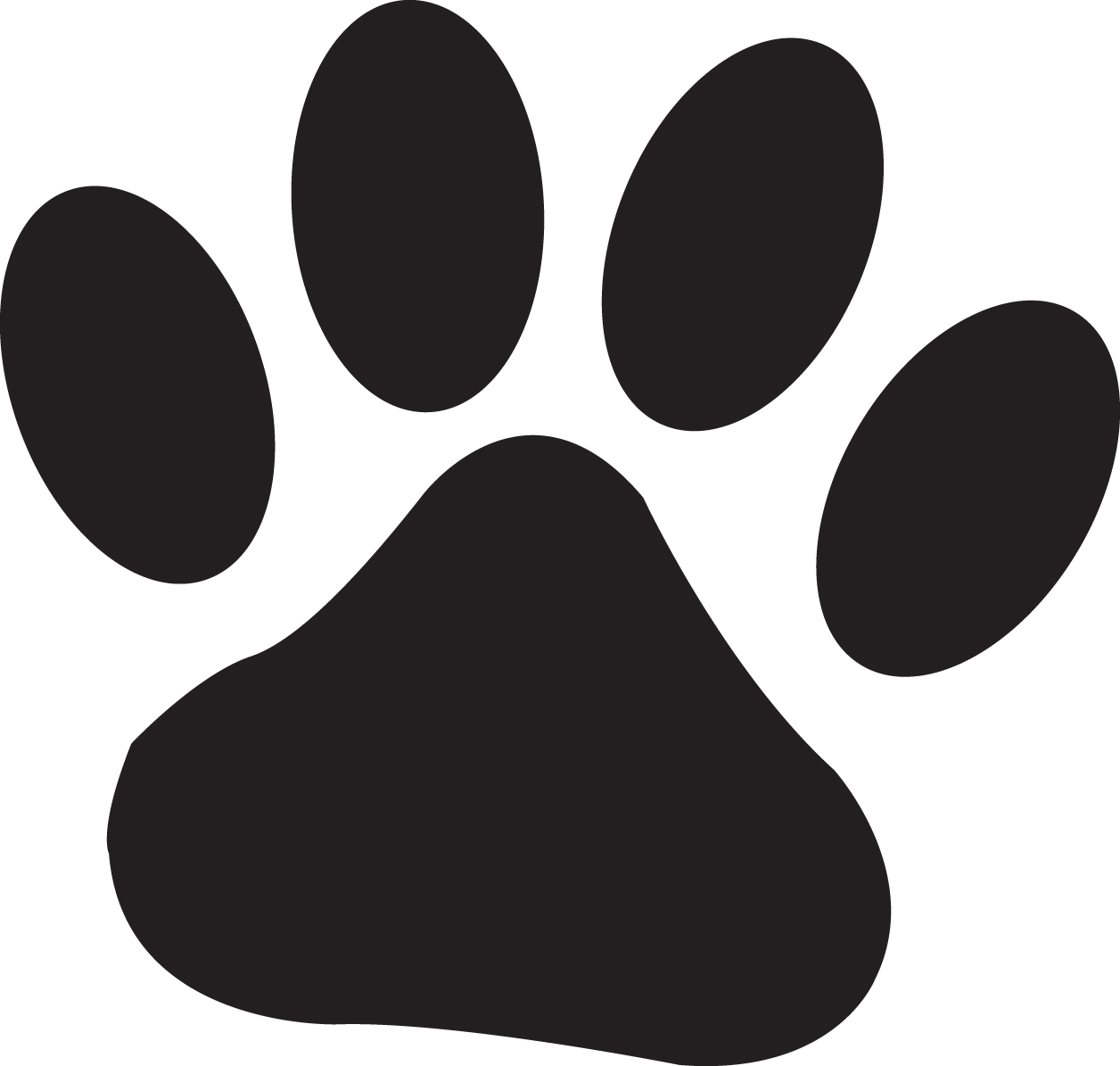 Clipart dog and cat paw prints.