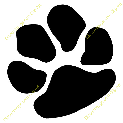 Animal paws clipart.