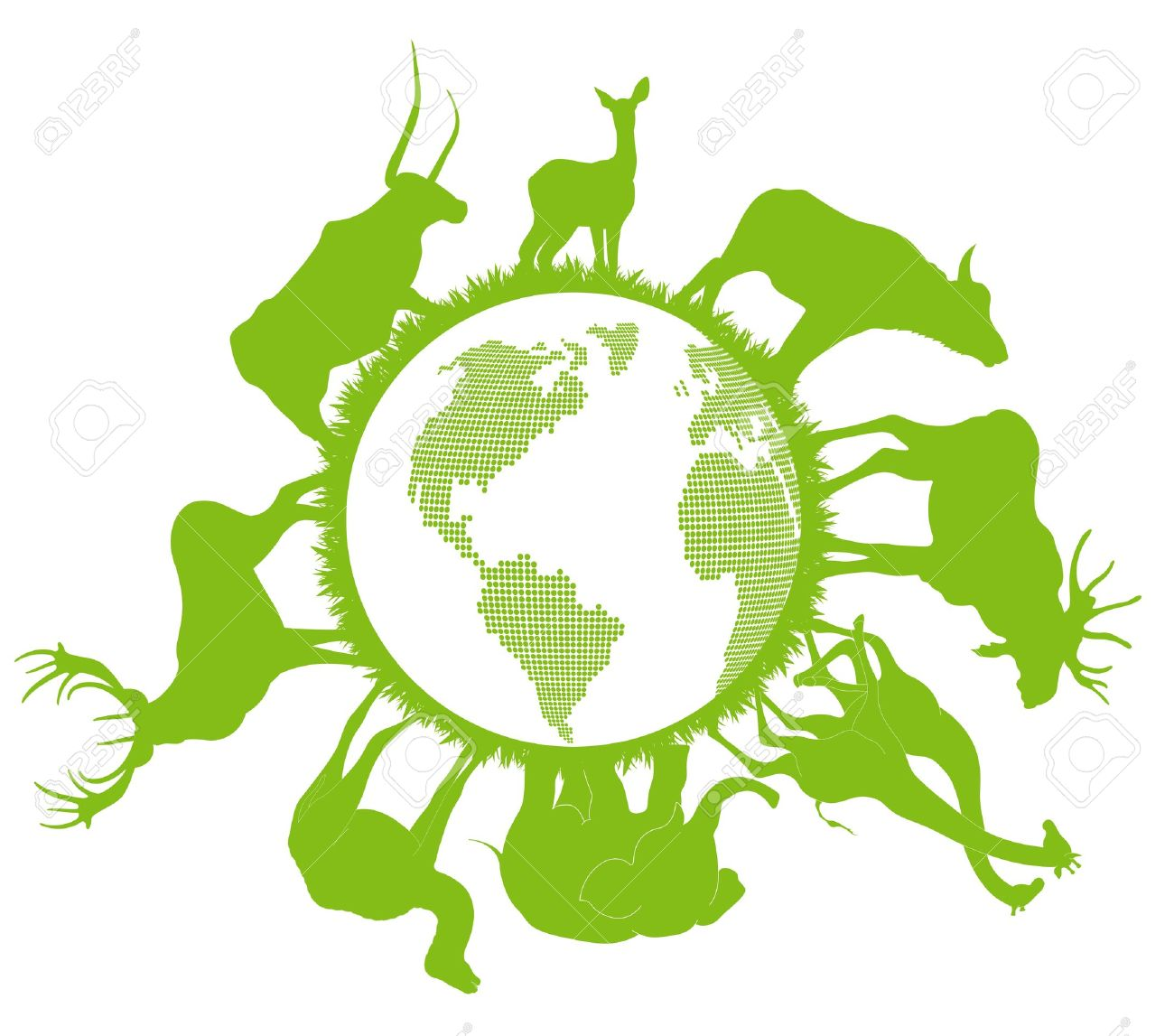 Animal Planet Vector Background Ecology Concept Royalty Free.