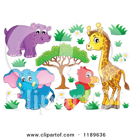 Plant animal bacteria clipart.