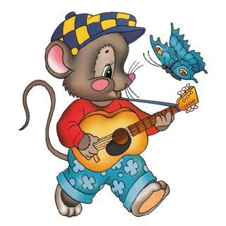 Animals Playing Musical Instruments Clipart.