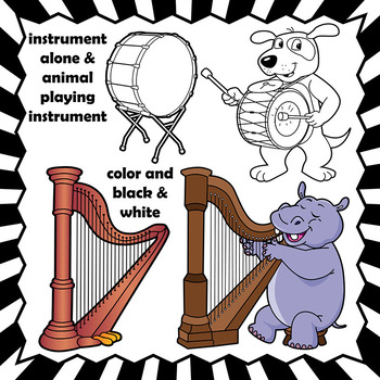 A to Z Animal Musicians and Musical Instrument Clip Art BUNDLE.